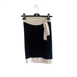 Moschino Faux Wrap Tied Skirt